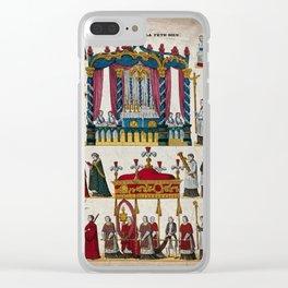 A Corpus Domini procession. Coloured lithograph. Clear iPhone Case