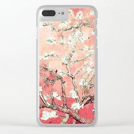 Van Gogh Almond Blossoms : Peach Clear iPhone Case