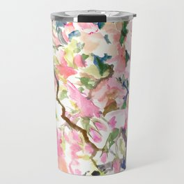 cherry blossom spring floral pattern Travel Mug