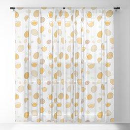 Space Eggs Sheer Curtain
