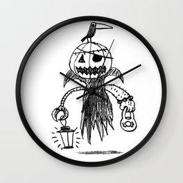 Jack o latern Wall Clock