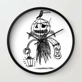 Jack o latern Wall Clock