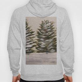 Snowy pines Hoody