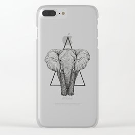 Wisdom Elephant Clear iPhone Case