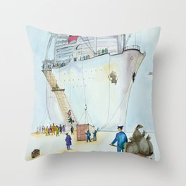 In the seaport Throw Pillow