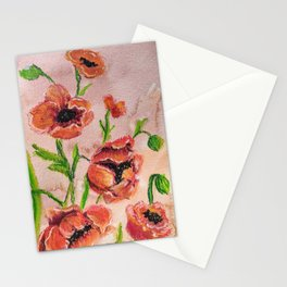 Positively Posh Poppies Stationery Cards
