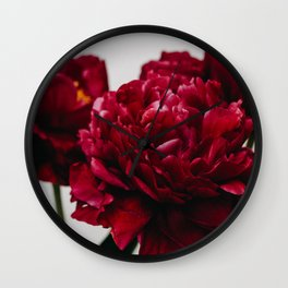 PEONIES RED CLUSTER Wall Clock