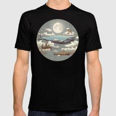 Ocean Meets Sky (original) Mens Fitted Tee MEDIUM Black