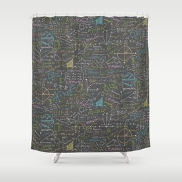 Math Lessons Shower Curtain