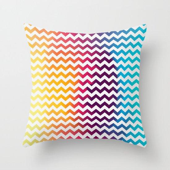 Rainbow Zoon Throw Pillow