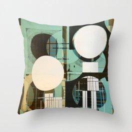 Mid Century Fragments 3 Throw Pillow