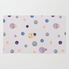 Confetti Metallic Polka Dots Rug