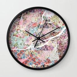 Nantes map Wall Clock