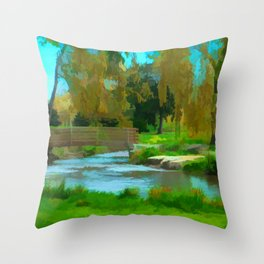 Allentown Rose Gardens - Fall Takes Hold Throw Pillow