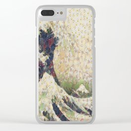 The Great Wave Of Honeydew Melon After Hokusai Clear iPhone Case