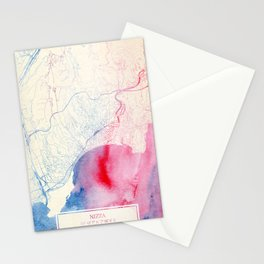 Nizza Map Stationery Cards