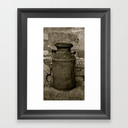 Old Milk Can Framed Art Print