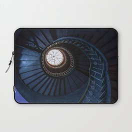 Abandoned blue spiral staircase Laptop Sleeve