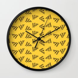 Bla rotated Wall Clock