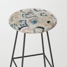 Art Deco Marble Tiles in Soft Pastels Bar Stool