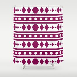 Marsala Tribal Pattern Shower Curtain