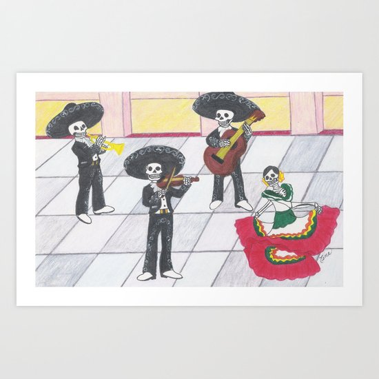 Dia de los Muertos; Celebración Art Print