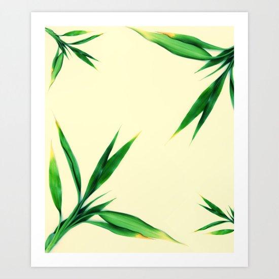 Bamboo leaves #1 #decor #art #society6 Art Print