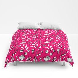 LotteZ' purse items doodle print (magenta) Comforters