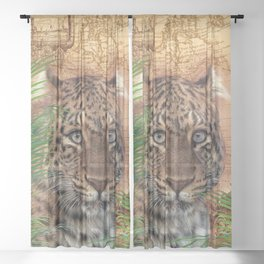The Leopard Sheer Curtain