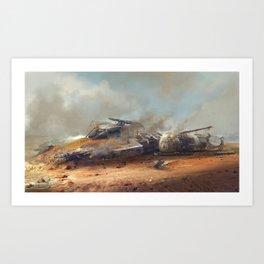 Crashed Y-Wing Art Print