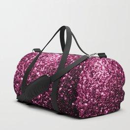 Beautiful Dark Pink glitter sparkles Duffle Bag