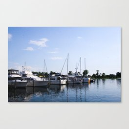 Boats in Laguna Canvas Print