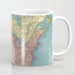 Vintage Map of North America (1903) Coffee Mug