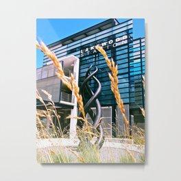 Future Train Station Metal Print