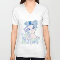 magical girl V-neck T-shirts featuring MAGICAL GIRL IN TRAINING by Natalie Nardozza