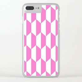 Classic Trapezoid Pattern 230 Pink Clear iPhone Case