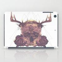 true detective iPad Cases featuring True Detective Skull by AnnaCheles