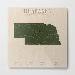 Nebraska Parks Metal Print