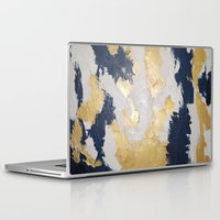 maps Laptop & iPad Skins featuring Golden Maps by Eunieverse Art