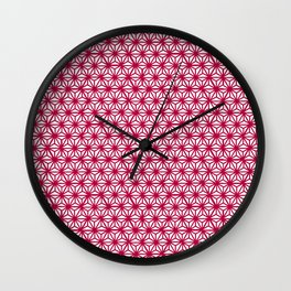 Asanoha pattern Wall Clock