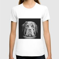 rottweiler T-shirts featuring Rottweiler Drawing By Annie Zeno by Annie Zeno