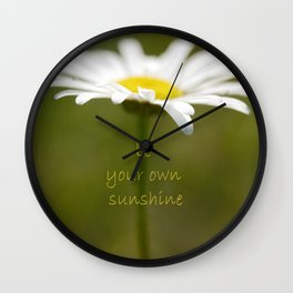 Be Your Own Sunshine Wall Clock