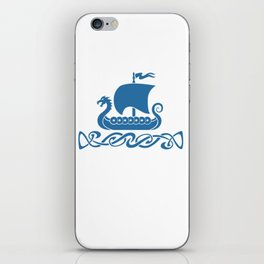 Drgon Boat - Blue iPhone Skin