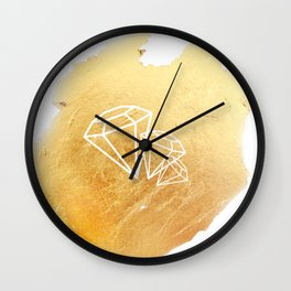 Faceted Gold Wall Clock