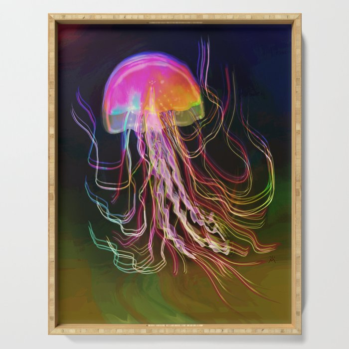 Jellyfish Smell of Summer Serving Tray