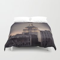 gotham Duvet Covers featuring Gotham by Amritha Mahesh