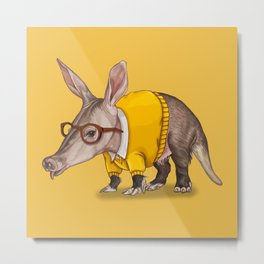 A is for Aardvark Metal Print