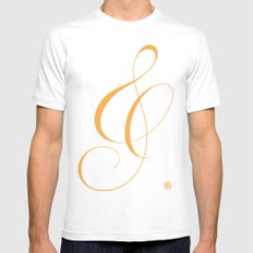 Nautica's Ampersand Mens Fitted Tee White MEDIUM