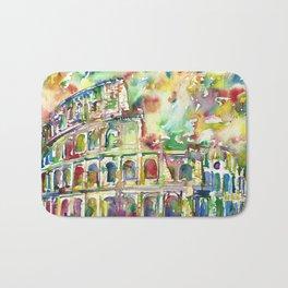 COLOSSEUM - watercolor painting Bath Mat