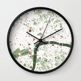 London city map minimal Wall Clock